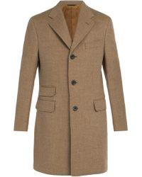 Thom Sweeney - Single Breasted Wool Coat - Lyst