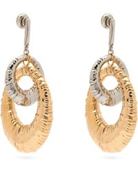 Givenchy - Eclipse Interlocking Hoop Earrings - Lyst