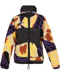 Pam - Dna Camouflage Faux Shearling Jacket - Lyst