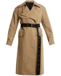 Helmut Lang - Belted Cotton Trench Coat - Lyst