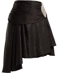 Dodo Bar Or - Crystal Embellished Leopard Jacquard Skirt - Lyst