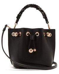 Sophia Webster - Romy Woven Handle Leather Bucket Bag - Lyst