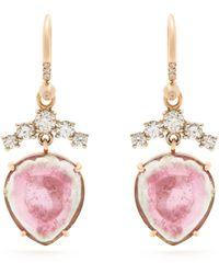 Irene Neuwirth - Diamond, Tourmaline & Rose-gold Earrings - Lyst