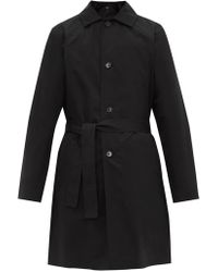A.P.C. - Germano Cotton Blend Trench Coat - Lyst