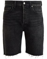 Balenciaga - Raw-edge Denim Shorts - Lyst