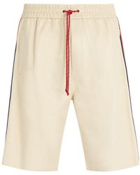 Gucci - Drawstring Leather Shorts - Lyst