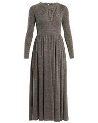 ALEXACHUNG - Cut-out Front Gathered-waist Dress - Lyst