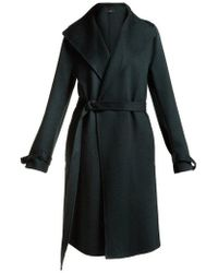 JOSEPH - Wool-blend Belted Coat - Lyst