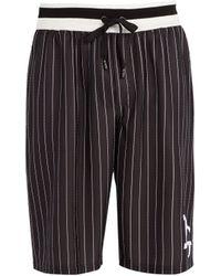 Dolce & Gabbana - Short long à rayures fines et logo - Lyst
