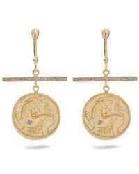 Azlee - Animal Kingdom Diamond & Yellow-gold Earrings - Lyst