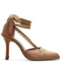 Castaner - X Manolo Blahnik Pointed-toe Satin Court Shoes - Lyst