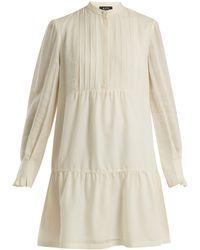 A.P.C. - Jones Long-sleeved Striped Crepe Dress - Lyst