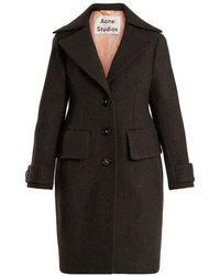 Acne Studios - Cherl T Melton Single-breasted Wool Coat - Lyst