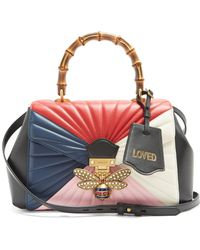 Gucci - Queen Margaret Bamboo-handle Leather Shoulder Bag - Lyst