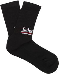 Balenciaga - Logo Cotton-blend Socks - Lyst