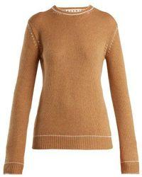 Marni - Contrasting-jacquard Cashmere Sweater - Lyst