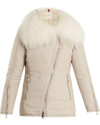 Moncler - Choisia Fur-trimmed Down Jacket - Lyst