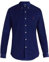 Polo Ralph Lauren - Logo-embroidered Cotton-corduroy Shirt - Lyst