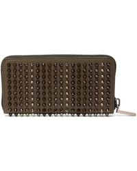 Christian Louboutin - Panettone Zip Around Leather Studded Wallet - Lyst