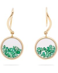 Aurelie Bidermann - Chivor Emerald & 18kt Gold Earrings - Lyst