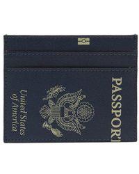 Vetements - Passport-print Leather Cardholder - Lyst