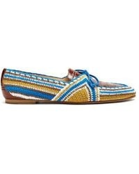Gabriela Hearst - Hays Leather Crocheted Loafers - Lyst