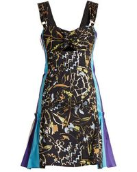 Peter Pilotto - Contrast-panel Embroidered-jacquard Mini Dress - Lyst