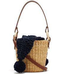 Muuñ - Seau Wool And Woven Straw Bucket Bag - Lyst