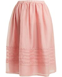 Jupe by Jackie - Griggs Embroidered Silk Organza Midi Skirt - Lyst