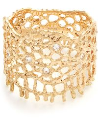 Aurelie Bidermann - Diamond & Yellow Gold Ring - Lyst