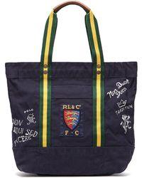 Polo Ralph Lauren - Crest Cotton-canvas Tote Bag - Lyst