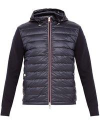 6d8becc46095 Lyst - Moncler Down-filled Hooded Shell Jacket in Blue for Men