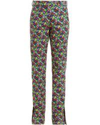 MSGM - Pantalon en sergé de coton à imprimé floral - Lyst