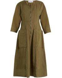 Apiece Apart - Fernwood Cotton Midi Dress - Lyst