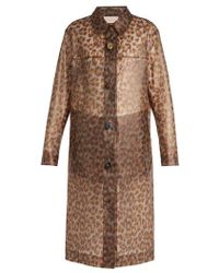 Christopher Kane - Leopard-print Frosted Rubberised Coat - Lyst