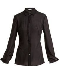 Lanvin - Sheer Silk-blend Shirt - Lyst