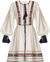 Talitha - Athena Zoya-embroidered Cotton Dress - Lyst