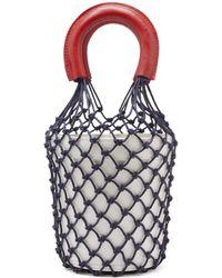 STAUD - Moreau Macramé And Leather Bucket Bag - Lyst