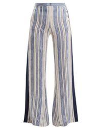 Zeus+Dione - Alcyone Geometric-jacquard Silk-blend Trousers - Lyst