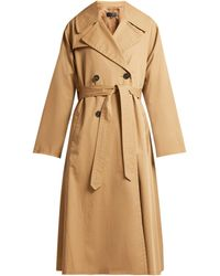 Nili Lotan - Topher Belted Cotton Gabardine Trench Coat - Lyst