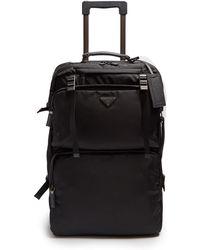 Prada | Multi-pocket Nylon And Leather Suitcase | Lyst