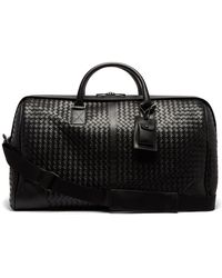 Bottega Veneta - Intrecciato Leather Duffel Bag - Lyst