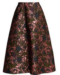 Erdem - Tiara Floral-jacquard Midi Skirt - Lyst