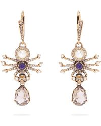 Alexander McQueen - Spider Drop Earrings - Lyst