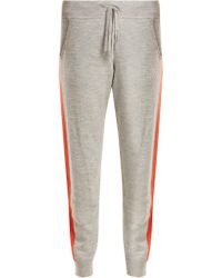 Amanda Wakeley - Aldridge Side Stripe Cashmere Track Trousers - Lyst