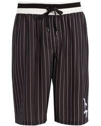 Dolce & Gabbana - Long Logo Pinstripe Board Shorts - Lyst