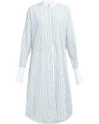 ec02037b63f Marina Moscone - Alex Striped Cotton Poplin Shirtdress - Lyst