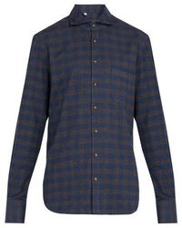 Thom Sweeney - Checked Cotton-flannel Shirt - Lyst