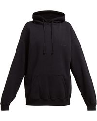 Vetements - Cut Out Elbows Cotton Hooded Sweatshirt - Lyst
