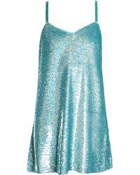 Ashish - Sequin-embellished Silk-georgette Mini Dress - Lyst
